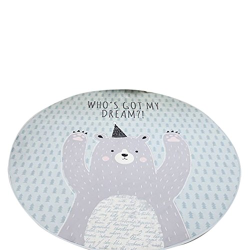 CHENGYANG alfombras redonda antideslizante alfombra habitacion bebe Alfombras Suave para Living Comedor Dormitorio Hogar Estera Azúl#1 100cm x 100cm