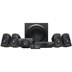 Logitech Système de Haut-Parleurs Z906 avec Son Surround 5.1, Certifié THX, Dolby & DTS, 1000 Watts en Puissance, Multi-Dispositifs, Entrées Multiples, Télécommande, Prise EU, PC/PS4/Xbox/TV