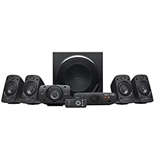 Logitech Z906 5.1 Surround Sound Speaker System, THX, Dolby & DTS Certified, 1000 Watts Peak Power, Multi -Device, Multiple Audio Inputs, Remote Control, PC/PS4/Xbox/Music Player/TV/Smartphone/Tablet (B004PGM9KY) | Amazon price tracker / tracking, Amazon price history charts, Amazon price watches, Amazon price drop alerts