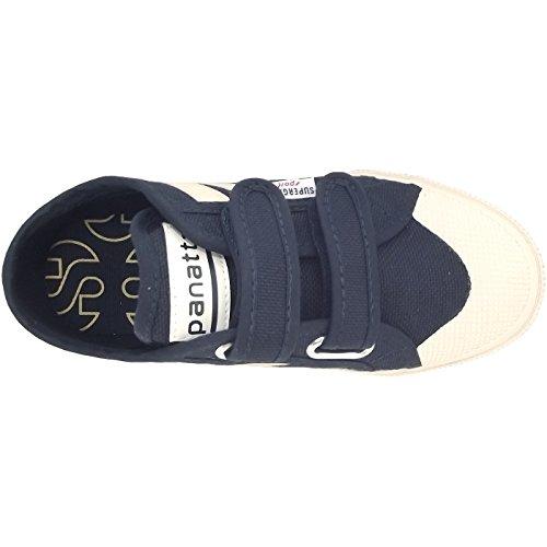 Superga 2750 Jvel Panatta, Baskets mode mixte enfant bleu foncé (navy/ecru)