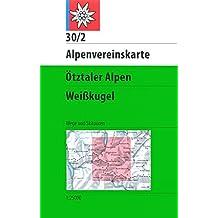 Ötztaler Alpen - Weißkugel: Wege und Skirouten- Topographische Karte 1:25000 (Alpenvereinskarten)