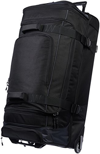AmazonBasics - Duffel Reisetasche mit Rollen, Ripstop, 89 cm, Schwarz