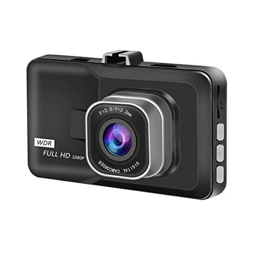 """Volle HD 1080P 3\""""LCD-Auto-DVR-Kamera-Videogerät mit G-Sensor-Nachtsicht-Bewegungs-Detektion WDR 170 ° Weitwinkel - Schwarz"""