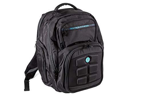 Fitness Expedition 300 - Juego de 6 bolsas de deporte para gestión de comidas (incluye latas y bolsas de refrigeración), color negro y azul, azul