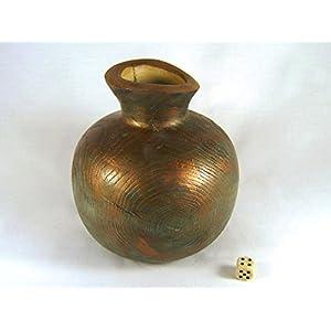 Vase aus Eschenholz, Metallfarbe Bronze, oxidiert (aa)