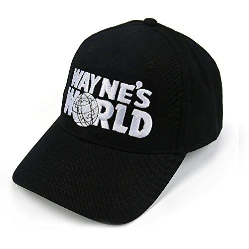 Kostüm Waynes World - Nofonda Unisex Wayne's World Cap, Baseballmütze mit Besticktem Logo, Snapback Hut als Cosplay-Kostüm Zubehör oder Geschenk, für Sport oder Freizeit