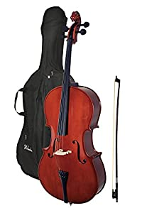 Windsor 4/4 Size Cello with Padded Bag - Brown