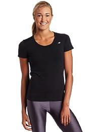 New Balance - Camiseta para mujer, tamaño S, color negro