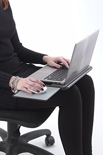 Exponent 50721 Notebook Unterlage mit Mauspad tragbar anthrazit