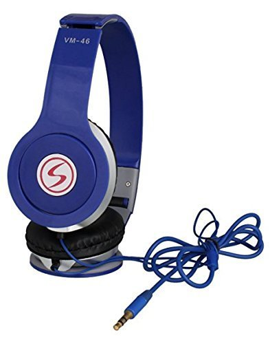 Headphones - Smazing™ Sony Xperia C5 Ultra Compatible Signature VM-46 Stereo Sound Powerful Solo HD Headphone For All Iphone And Android Smartphones (Blue)  available at amazon for Rs.299