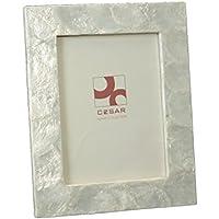 Exclusivas Camacho DonRegaloWeb - Portafotos de nácar en color blanco. Medida de la foto: