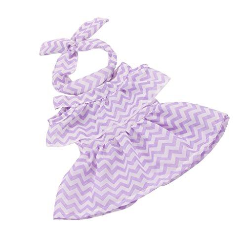 ppenkleidung Eileitiges Kleid & Haarband Bekleidung Set Für 43-45 cm Zapf Baby Born Puppe - Lila (Baby Doll Kostüme Für Mädchen)