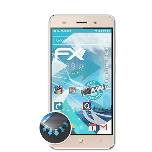 atFolix Schutzfolie passend für Haier Leisure L56 Folie, ultraklare & Flexible FX Bildschirmschutzfolie (3X)
