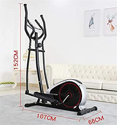 Indoor Cycling 2 In 1 Elliptical Cross Trainer Magnetic Resistance 8 Kg Flywheel Mit Multifunktionalem Monitor & Ipad Holder Bi-Directional Magnetic Control Scientific Ergonomic Design Design Black