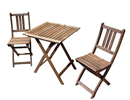 Sedex Terassen Set 2 Klappsessel + 1 Tisch