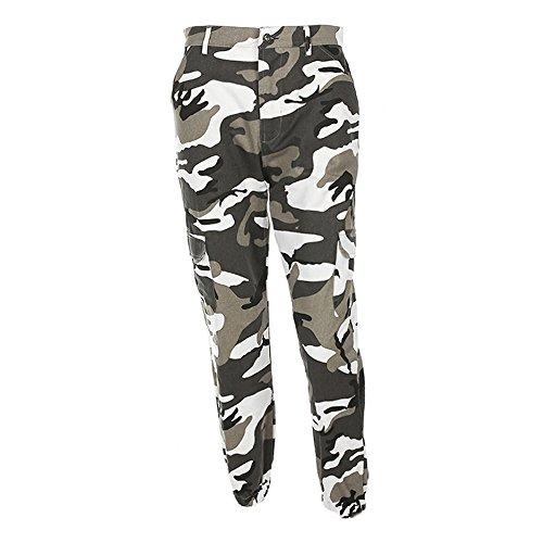 ❤️ BURFLY Frauen Fun Camo Cargo Hosen 2018 Neue Jugend Outdoor Casual Camouflage Hosen Jeans (S, Gray)