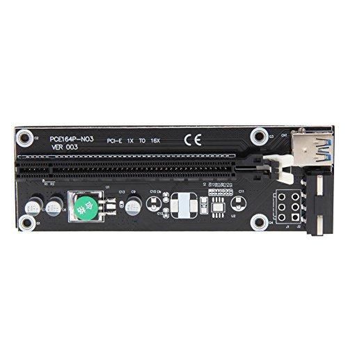Galleria fotografica Demiawaking USB 3.0 PCI-E Express 1x a 16x Cavo di Alimentazione SATA Adattatore per Schede di Risalita (50cm)