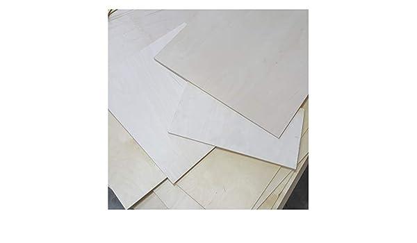 0,5m/² Reste 5mm Sperrholzplatten Zuschnitt Birke Multiplex Bastel und Laubs/äge-Holzplatten