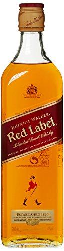 *Johnnie Walker Red Label Blended Scotch Whisky – Rauchige Note mit frischen und süßen Akzenten – Aus den vier Ecken Schottlands direkt ins Glas – 1 x 0,7l*