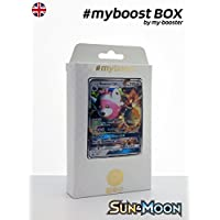 Box #myboost BEWEAR GX SM34 10 english pokemon trading cards XY including : - the card BEWEAR GX SM34 210HP of the series Sun and Moon - 1 holographic card or Reverse - 1 card 100HP - 1 card 90HP - 1 card 80HP my-booster, the PREMIUM offer Pokemon