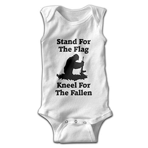 UYTGYUHIOJ Baby Sleeveless Bodysuits Flag Kneel Fallen Unisex Cute Lap Shoulder Onesies - Fallen Flags