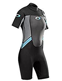 Adults Ladies Osprey Origin 3/2mm Short Sleeve / Shorty Wetsuit (Blue (Ladies), Med - 37 Chest)