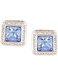 Ananth Jewels Swarovski Elements Large Crystal Stud Earrings For Women