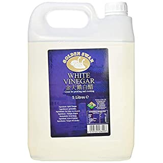 Golden Swan White Vinegar for Pickling, Marinating & Cooking - 5 Litre Bottle - Produced in The UK (1 Pack)