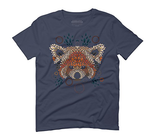 Red Panda Face Men's Graphic T-Shirt - Design By Humans Navy