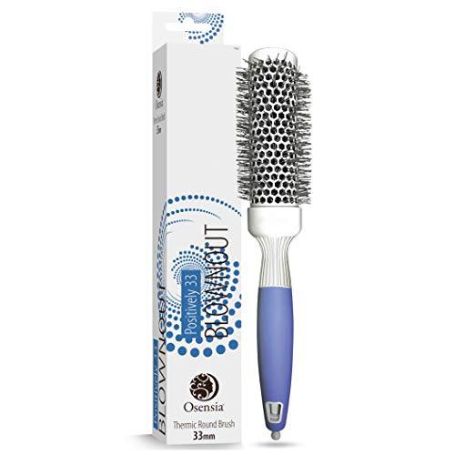 Spazzola rotonda per messa in piega – spazzola termica piccola per un hair styling impeccabile – spazzola con setole in ceramica termica antistatica – spazzola per capelli osensia, 33 mm di diametro