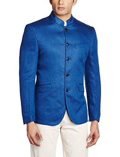 Van Heusen Men's Slim Fit Blazer (8907485856561_VHBZ316M04990_104/42_Dark Blue)  available at amazon for Rs.3999