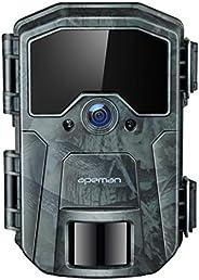 APEMAN Fototrappola 20MP 1080P, Videocamera con rilevazione Notturna Senza Bagliore con IR LEDs 940nm, Interva