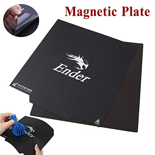 Tresbro Creality Impresora 3D Cama magnética Flexible Etiqueta de cama caliente magnética Original Removeable Construir plataforma de superficie para Ender 3 Ender 3 Pro