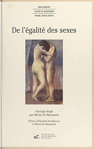 Livre gratuits De l'égalité des sexes pdf ebook