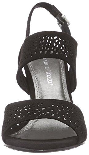 Marco Tozzi 28309 Damen Slingback Sandalen mit Blockabsatz Schwarz (Black 001)