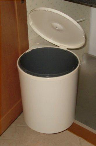 Pattumiera rotonda 1 secchio Lit. 13 estraibile per mobile cucina ...