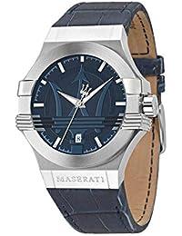 Maserati Montre Homme Analogique Quartz avec Bracelet en Cuir – R8851108015