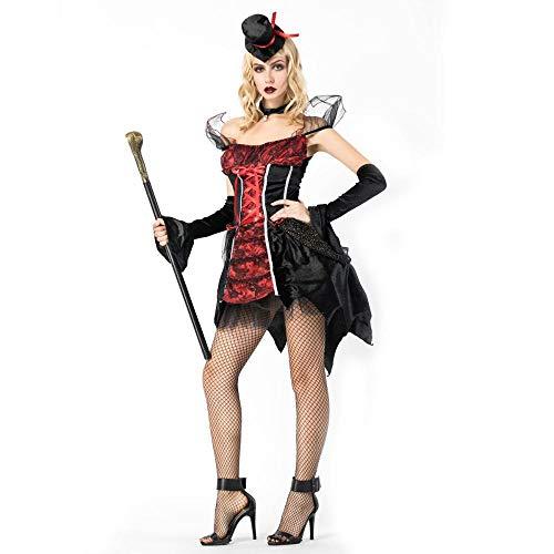 Olydmsky costumi da donna di halloween strega di halloween cosplay costume stage pack vampiro conte partito costume cosplay