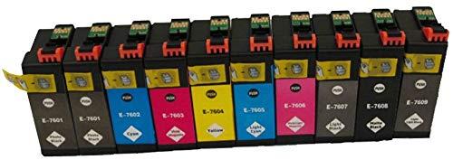 epson surecolor p600 10 Pigment Druckerpatronen kompatibel für EPSON SureColor SC-P600 C11CE21301