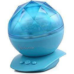 lederTEK Proyector de Diamente Aurora de Colores con 8 Modos con Música para un Ambiente Relajante en Sala, Dormitorio (Azul)