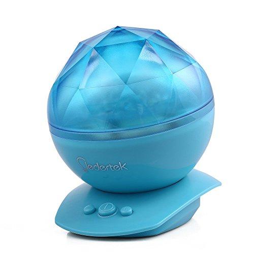 lederTEK LED colorati Aurora proiettore Ocean sonno dinamica della luce di notte della lampada Ocean Waves lampada del proiettore con musica 8Modes proiezione per camera da letto soggiorno per bambini sala da bagno (blu)