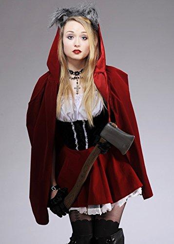 Rotkäppchen Kostüm mit Wolf Ohren S (UK 8-10) (Rotkäppchen Wolf Kostüm)