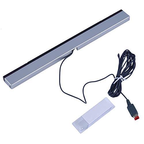 Kabelgebundener Infrarot-Signal-Strahlensor für Nintendo Wii Spielekonsole, Grau/silberfarben -