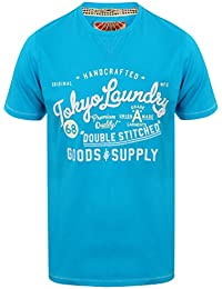 Tokyo Laundry Men's Bailey Springs Printed Crew Neck Short Sleeve T-Shirt Size S-XXL