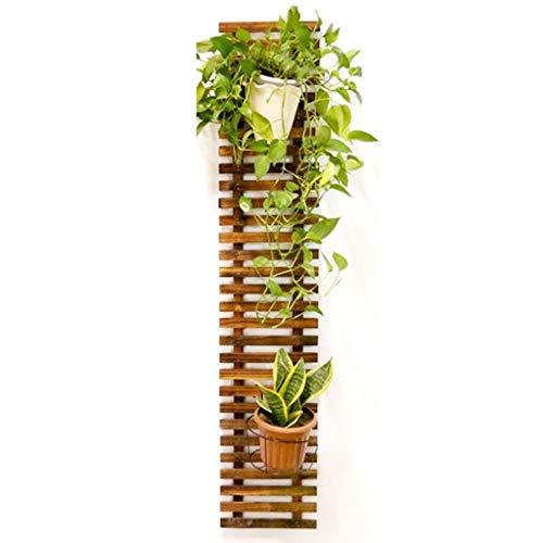 HZPXSB Holzzaun Wand Blumenständer Balkon Wandbehang Pflanzenrahmen Massivholz Wandbehang Topfgestell Pflanze Klettergerüst (Size : 29 * 150cm)