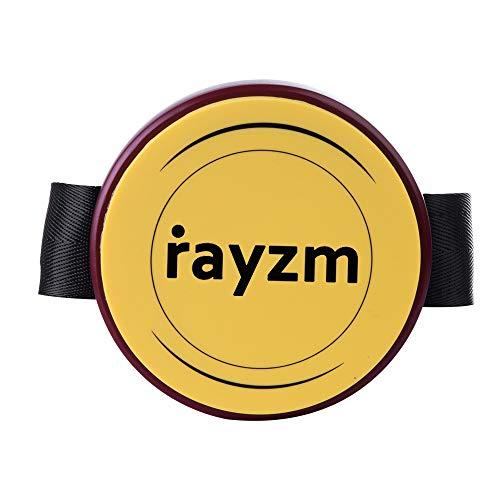 Rayzm Knieschleife Practice Pad mit verstellbarem Gurt, Portable Leg Drum Pad mit echten Trommel Feel, 4 Zoll (10,2cm) Silikon Pad -Responsive & Quiet, Kann auf Standard 8mm Drum Stand. Montage.