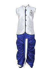 Kute Kids Boys Ethnic Jaquard Dhoti Kurta KK3730BLUESIZE4