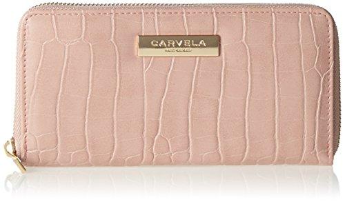 Carvela Damen Alison2 Croc Wallet Geldbörse, Pink (Pale Pink), 2.5x10.5x19 cm (Classic Pink Geldbörse)
