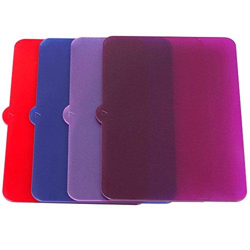 Neewer® 4 Stück Universelle Transparent Beleuchtungs Farbfilter (Rot, Blau, Rosa, Lila) für Neewer, Nanguang CN126, CN160 und CN216 Fotografie LED-Videoleuchte