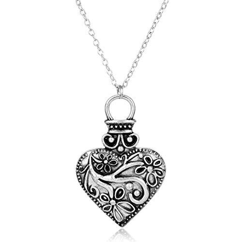 Film Schmuck Die Vampire Diaries Necklace Elena Gilbert Vintage Caroline Forbes Herzblume Pendant Halskette Für Frauen Mädchen